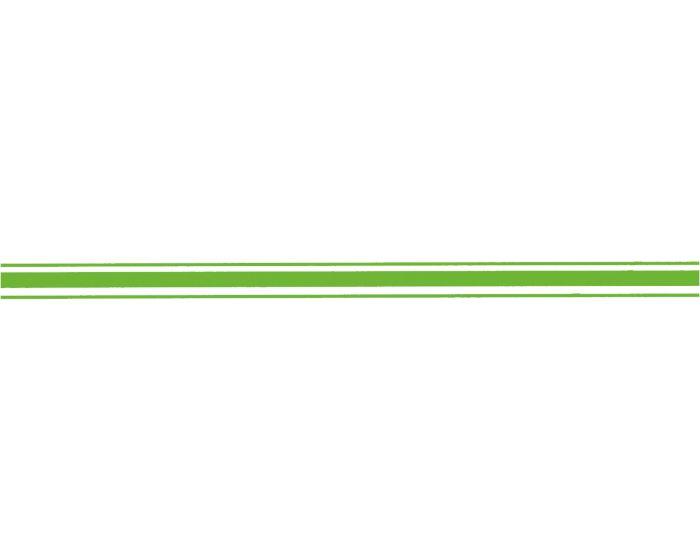 Striping neon groen 30mm sticker