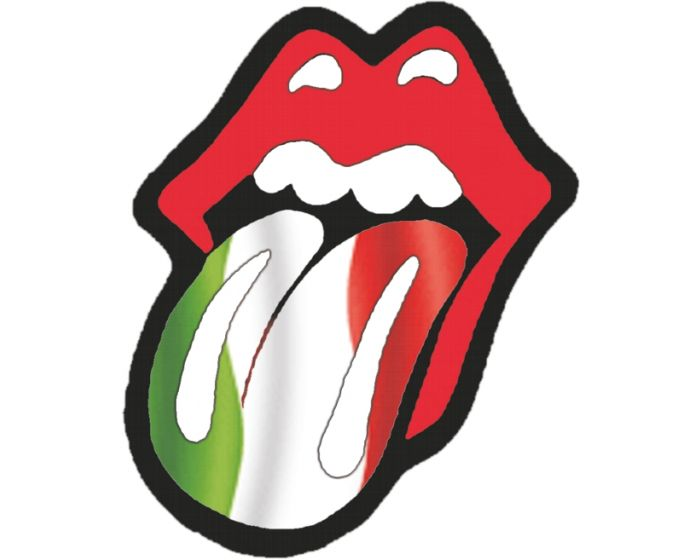 Rolling stones tong italie sticker 10cm