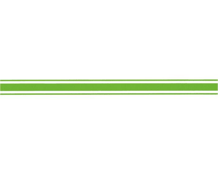 Striping 4.5cm neon groen sticker