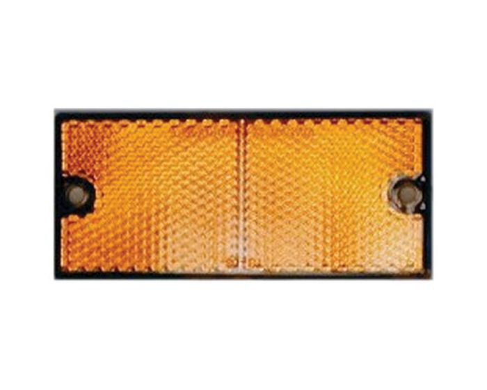 Reflector 90 x 40mm schroef oranje