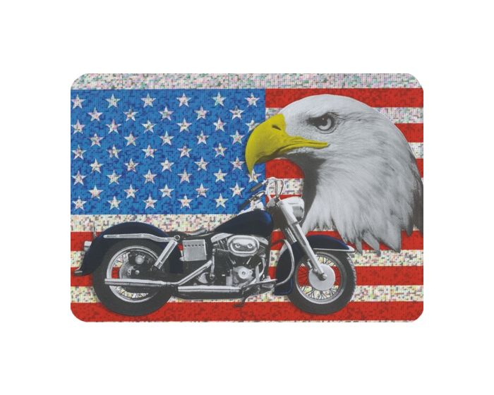 Usa vlag motor hologram sticker