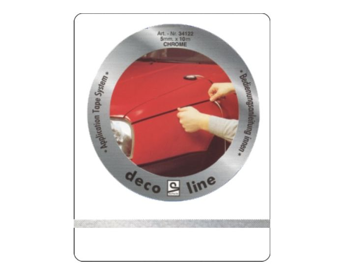 Striping chroom 5mm sticker