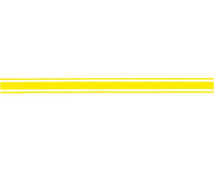 Sierstriping neon geel sticker