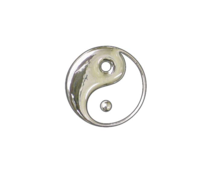 Yinyang 3d chrome  sticker