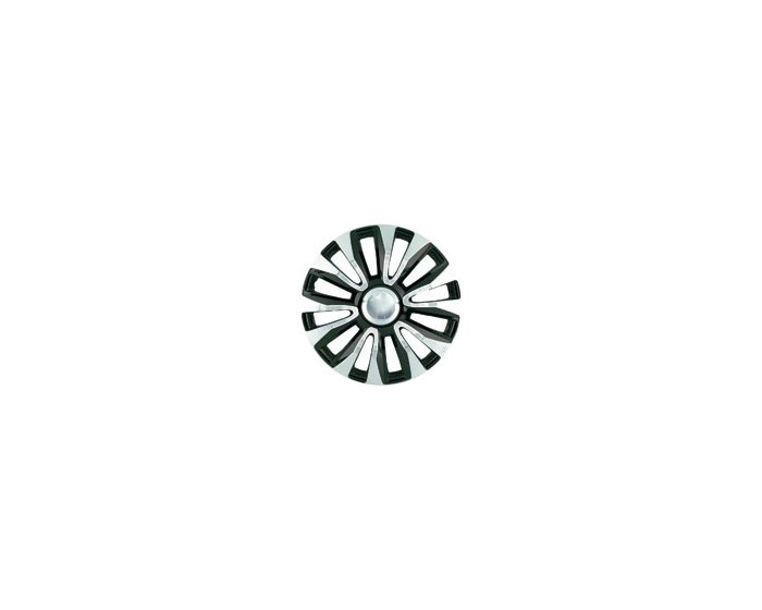 Avelon Chrome Zwart – 13 inch wieldoppen