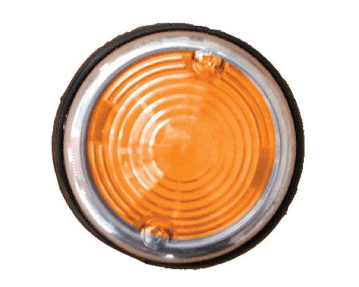 Breedtelicht oranje 70mm chroom rond
