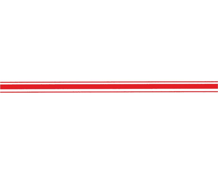 Striping neon rood 30mm sticker