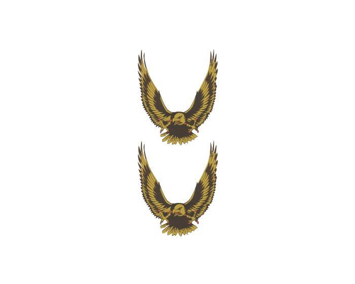 Adelaar set goud (2x) sticker