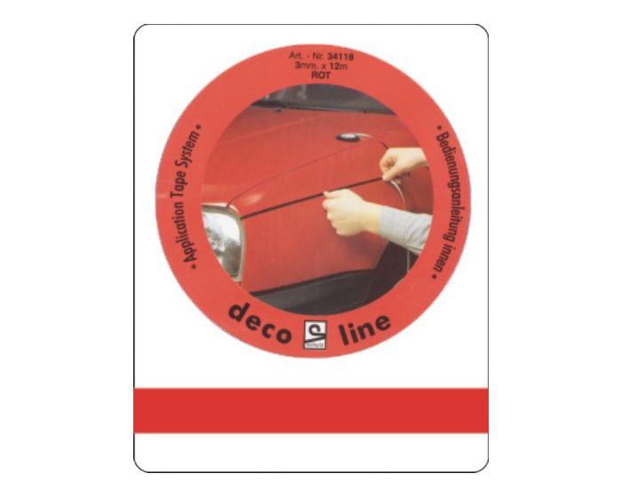 Bies rood 7mm sticker