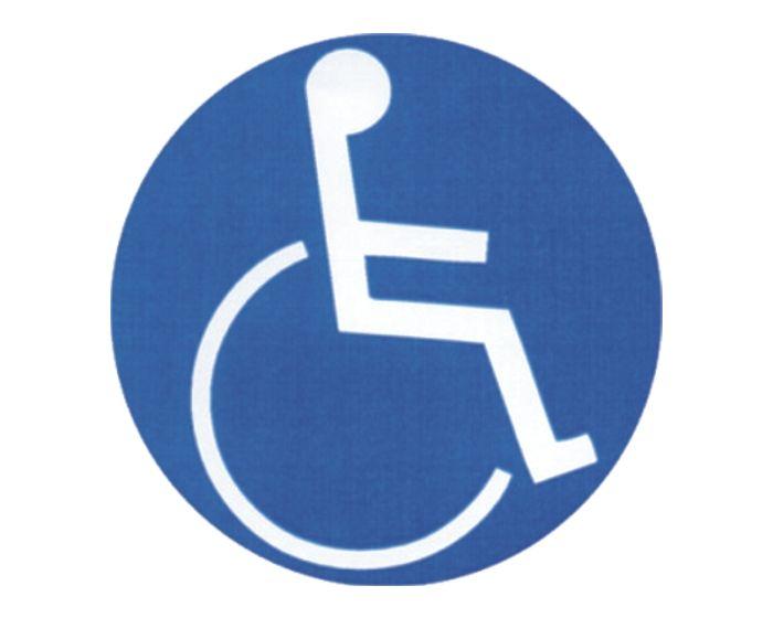 Invalide reflecterend sticker