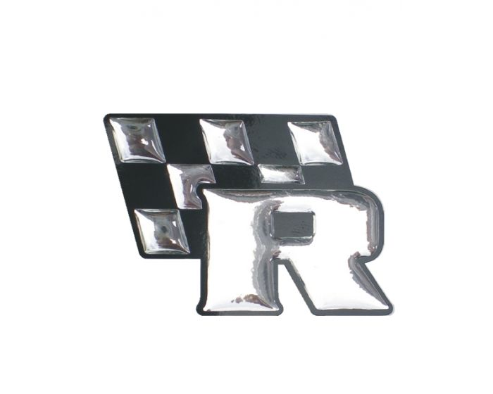 Racing 3d chrome sticker