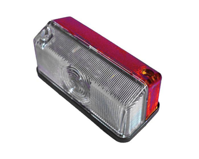 Markeringslamp 91 x 41mm rood/wit