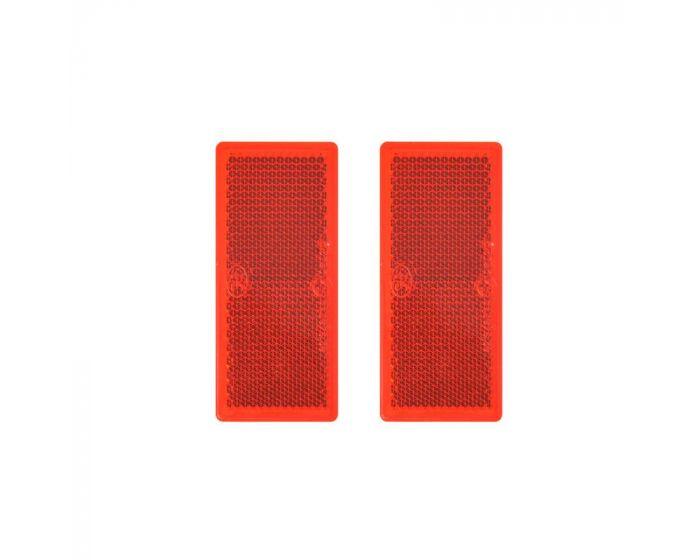 Reflector 82 x 36mm zelfklevend rood