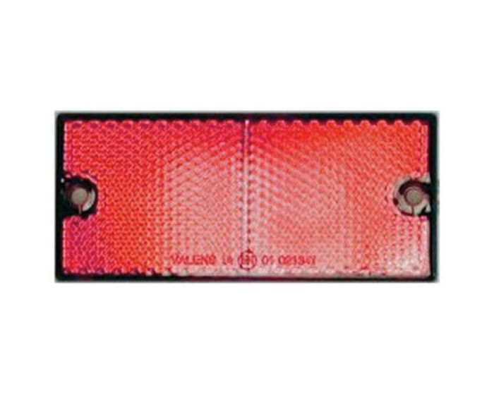 Reflector 90 x 40mm schroef rood