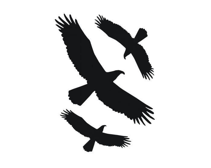 Vogelset raamsticker