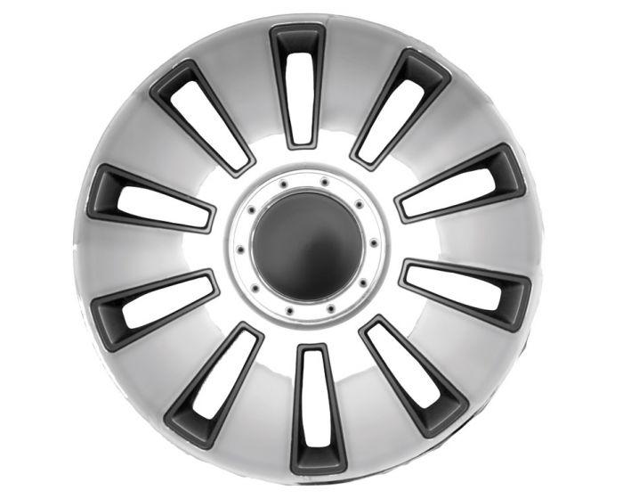 Silverstone Dark Chrome - 15 inch wieldoppen