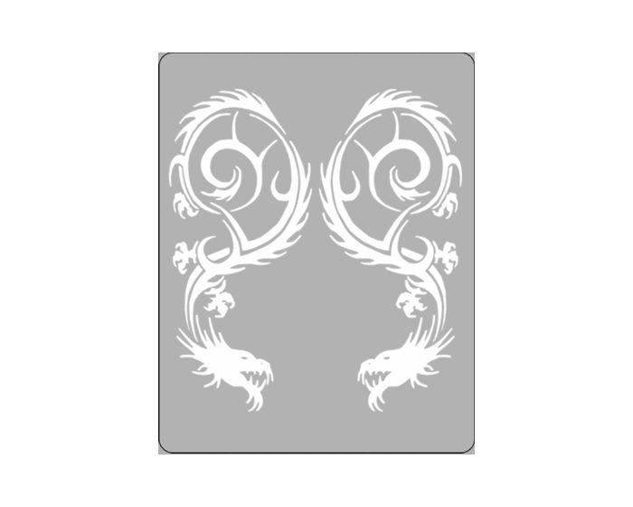Draak ii zilver sticker