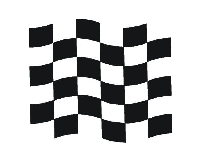 Raceflag zwart 400x350mm sticker