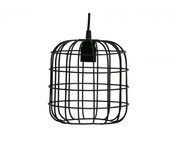 Woood hanglamp Lotus metaal zwart