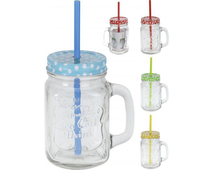 Drinkglas met rietje