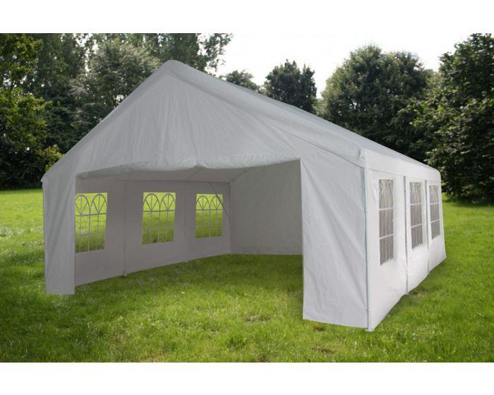 Partytent 4x6 meter wit met zijwanden Pure Garden & Living