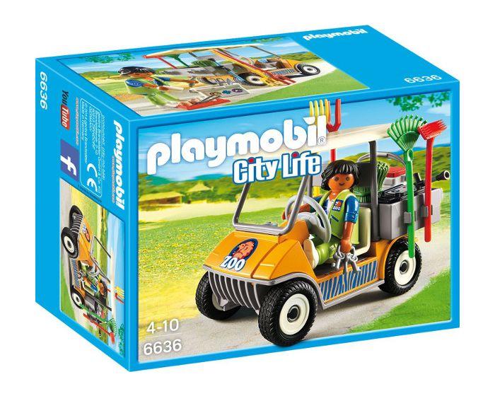 Playmobil Dierenverzorger met materiaal - 6636