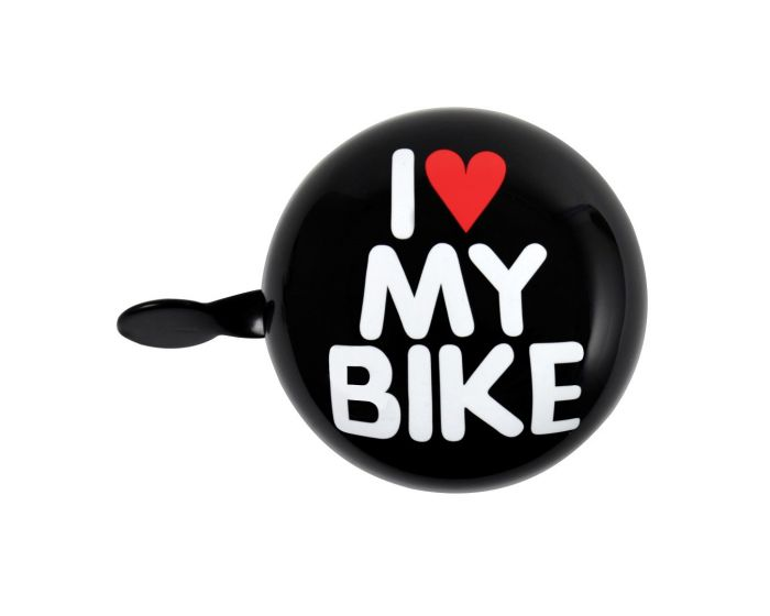 Fietsbel dingdong I love my bike 80 mm