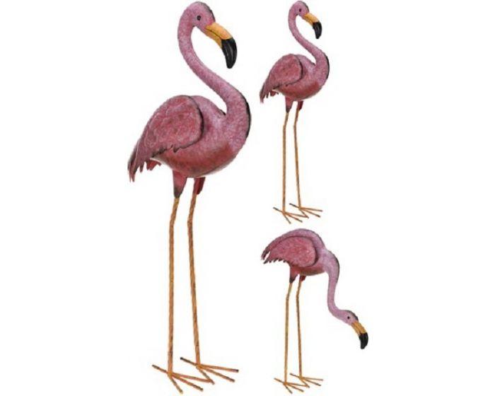 Metalen Flamingo - tuindecoratie