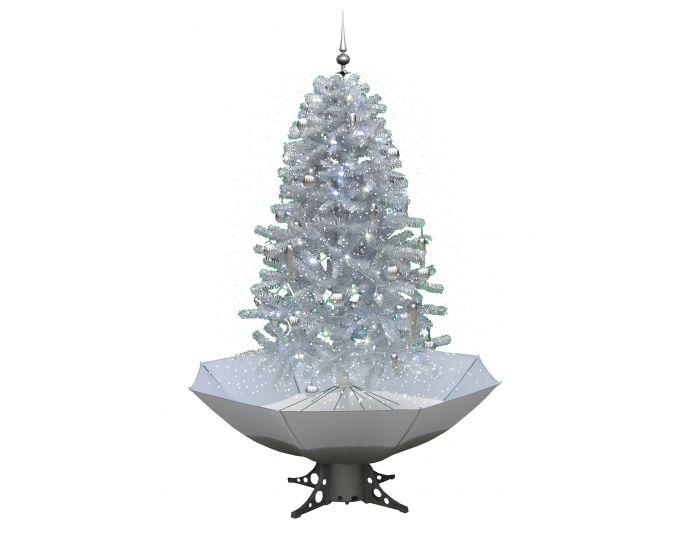 Sneeuwende Kerstboom Wit/Zilver 170cm