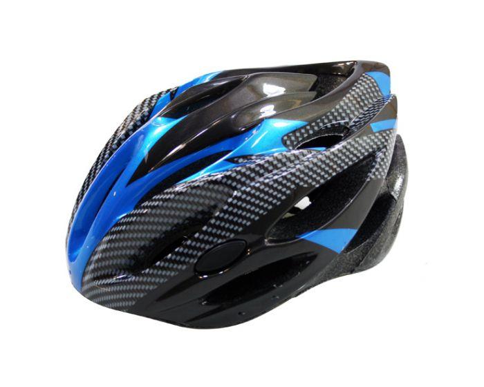 Fietshelm allround L zwart/blauw