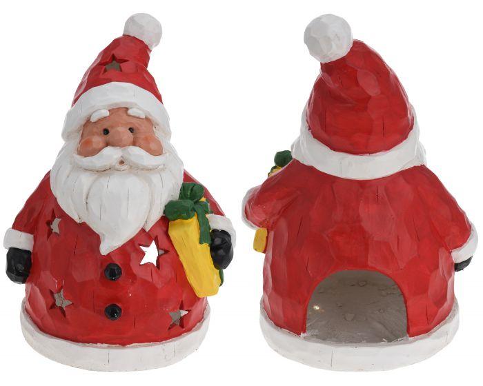 Kerstman theelichthouder 43 cm