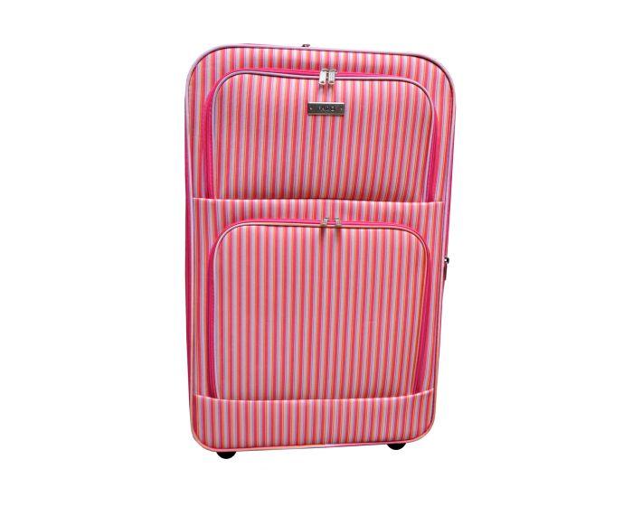 Koffer groot met streep dessin 80 liter