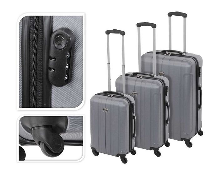 Koffer zilver - 97 liter