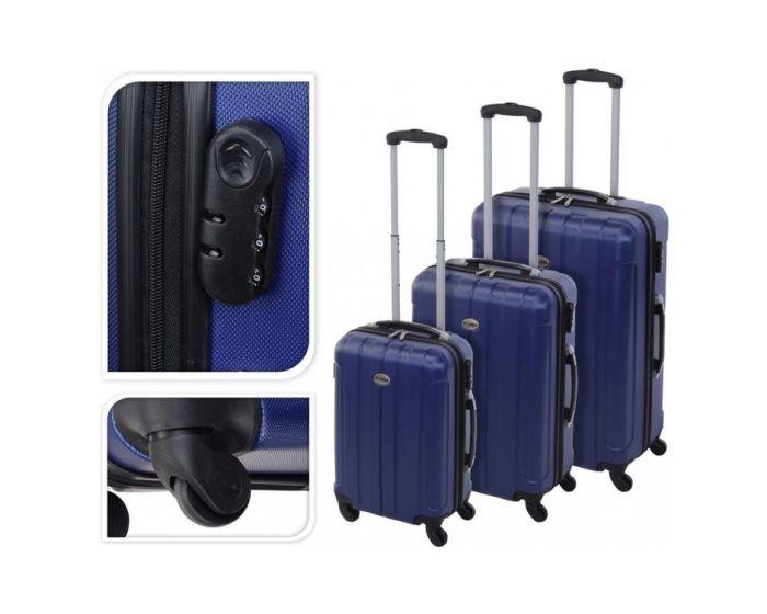 Koffer blauw - 97 liter