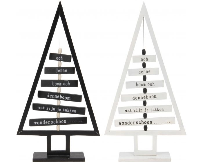 Kerstboom met tekst 41 cm