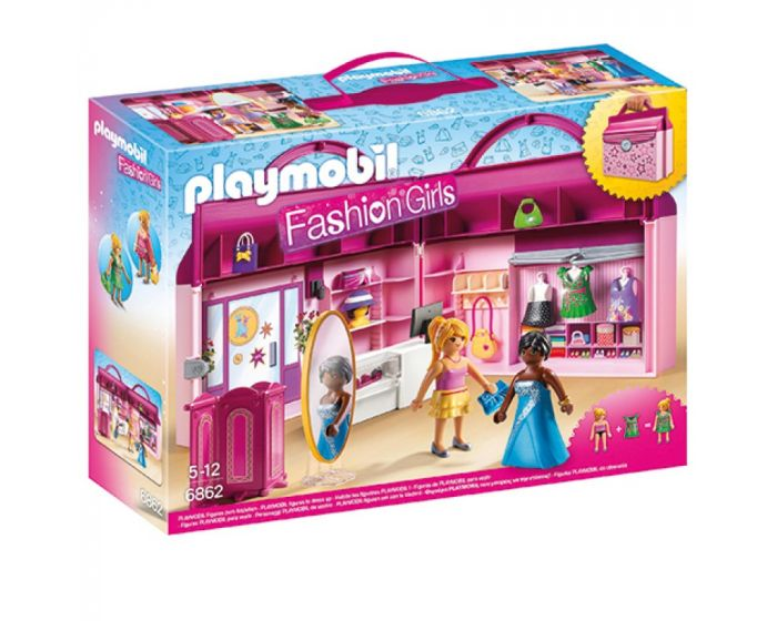 Playmobil fashion girls - draagbare fashionshop