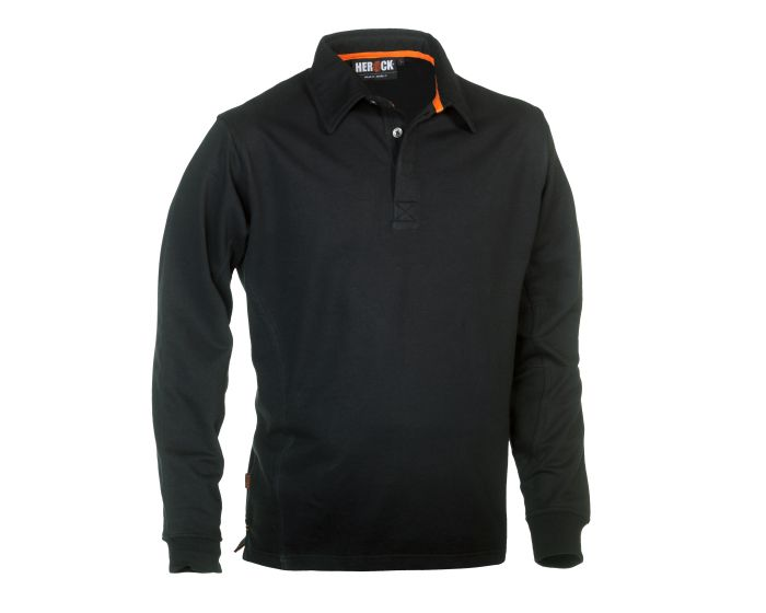 Herock Troja Polo Long Sleeves Zwart XL