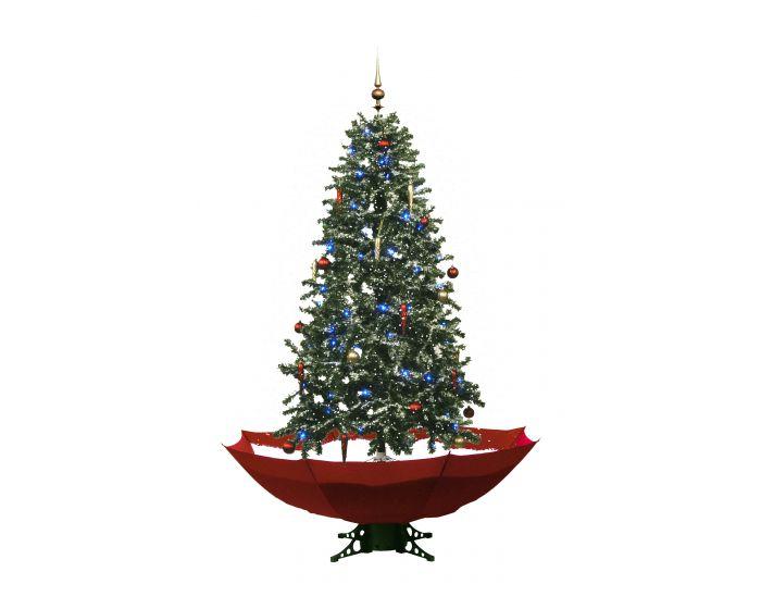 Sneeuwende Kerstboom Rood 170cm