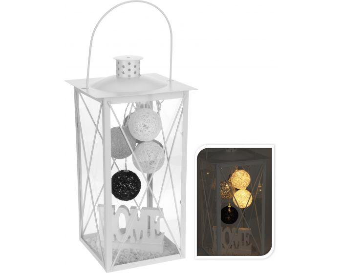 Lantaarn met LED en decoratie