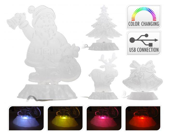 Kerstfiguur met LED op USB
