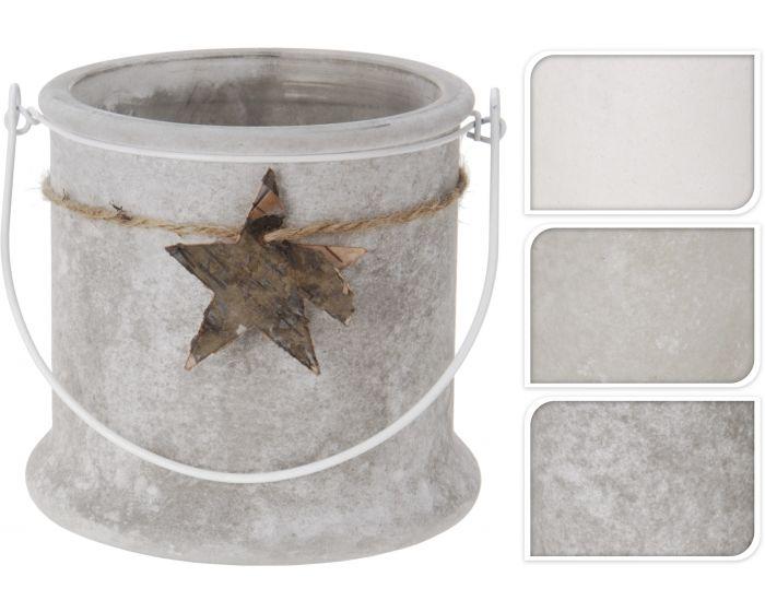 Theelichthouder glas 12cm