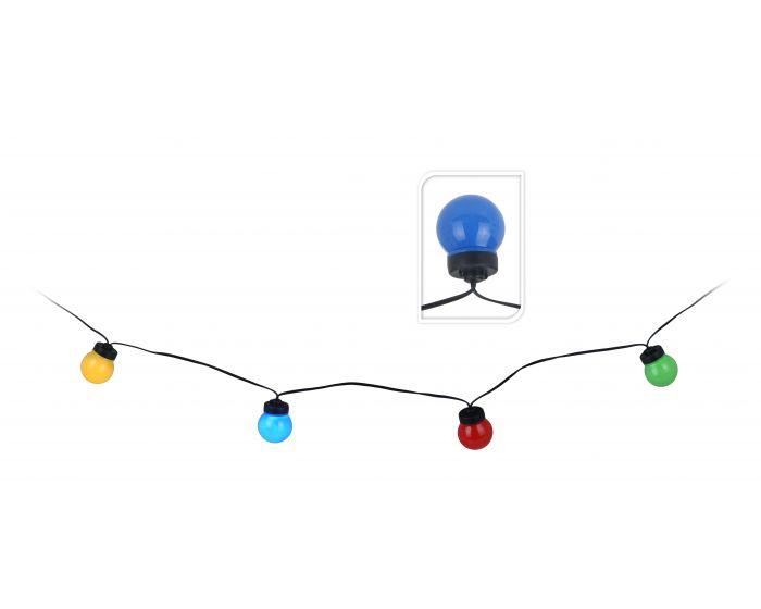 Feestverlichting 10 lampen gekleurd