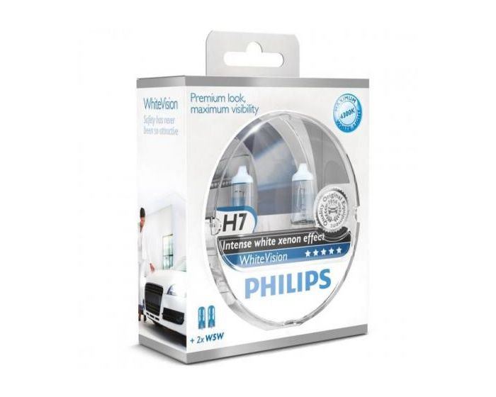 Philips Whitevision H7 W5W set