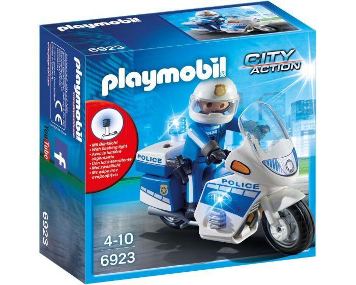 Playmobil Politiemotor met LED-licht - 6923