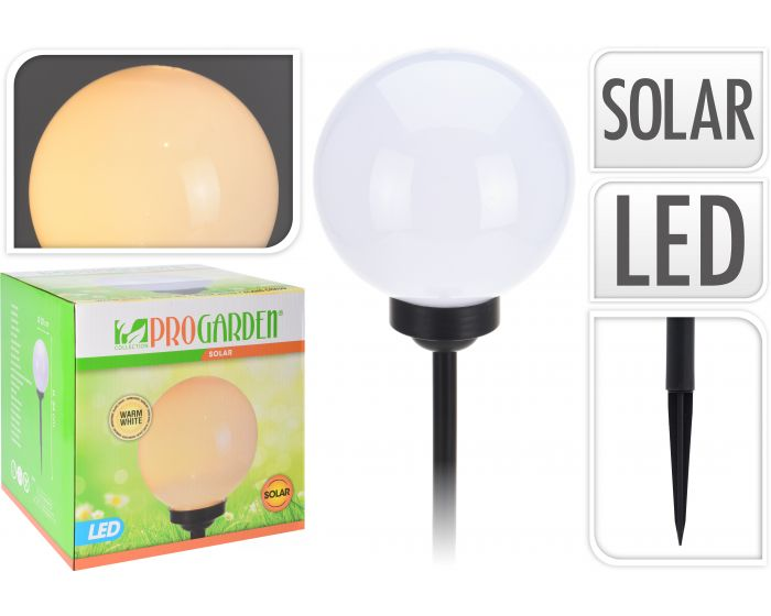Solar bal warm wit - 20 cm
