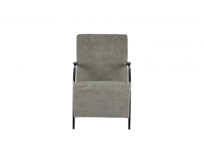 Woood fauteuil Halifax rib grijs/groen