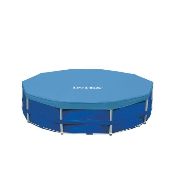 Afdekzeil loungeset finest rechthoekig afdekzeil zwembad for Intex zwembad grijs