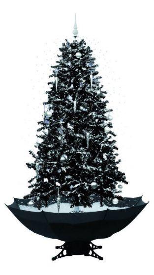 Sneeuwende Kerstboom Zwart Kerstartikelen Shop