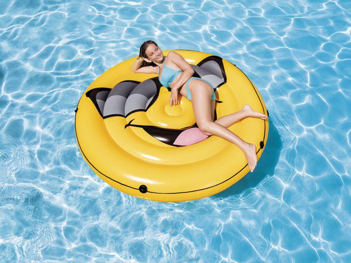 De Beste Luchtbedden.Intex Luchtbed Smiley Cool Guy Eiland Zwembad Speelgoed Heuts Nl