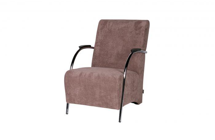 f08270491ef6c0 WOOOD Halifax fauteuil ribstof taupe 1